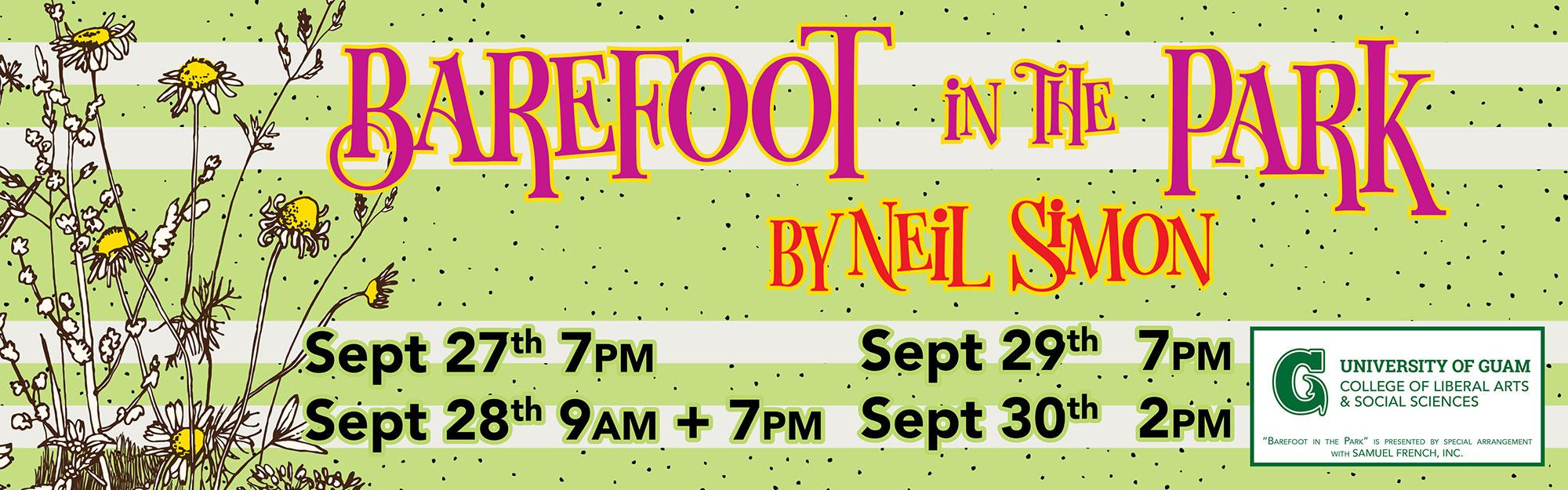 UOG Theatre Presents: Barefoot in the Park