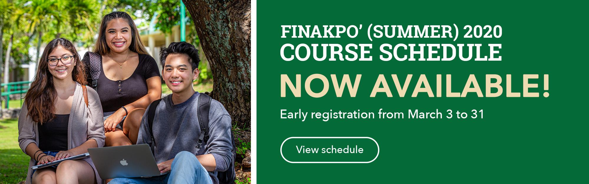 Click to view the Finakpo' 2020 Course Schedule