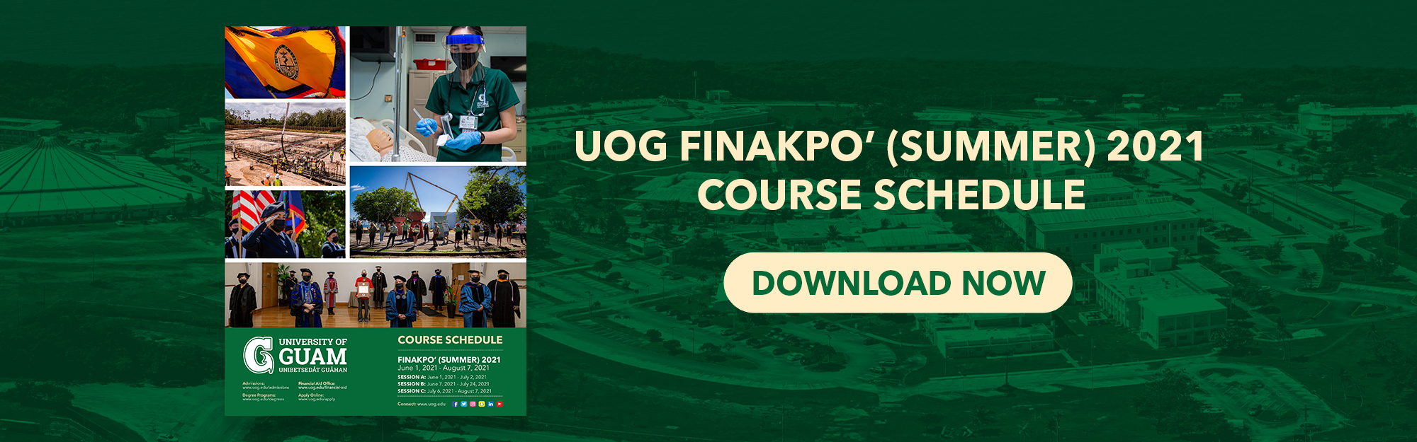 Click here to download the Finakpo' (Summer) 2021 Course Schedule