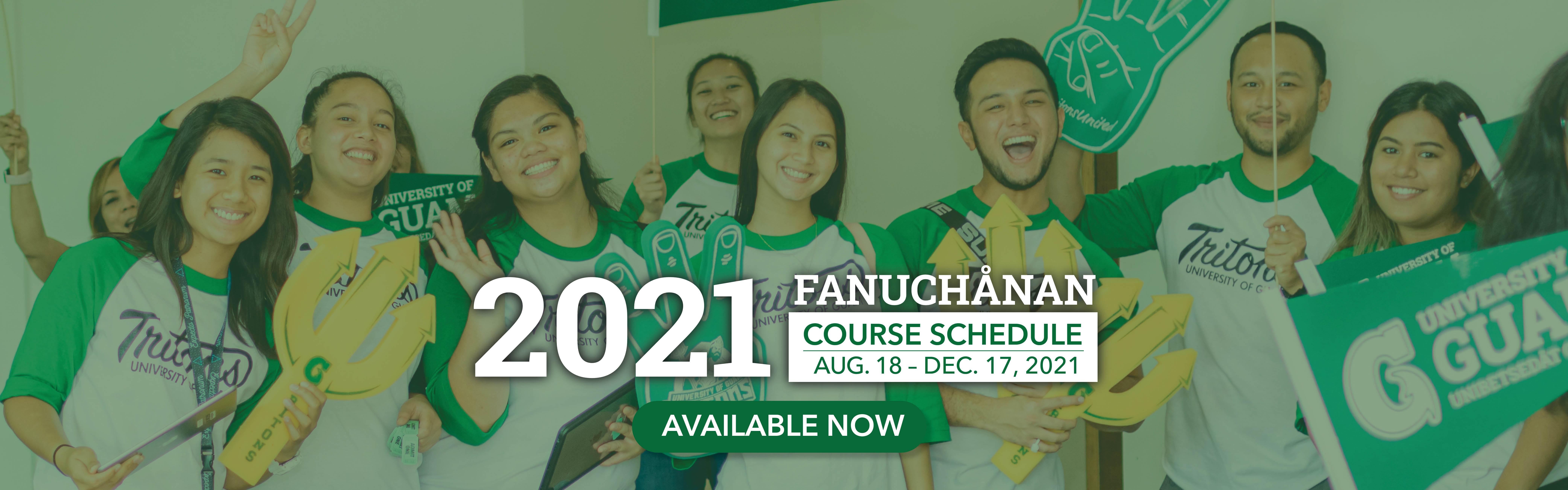 2021 Fanhuchanan Course Schedule