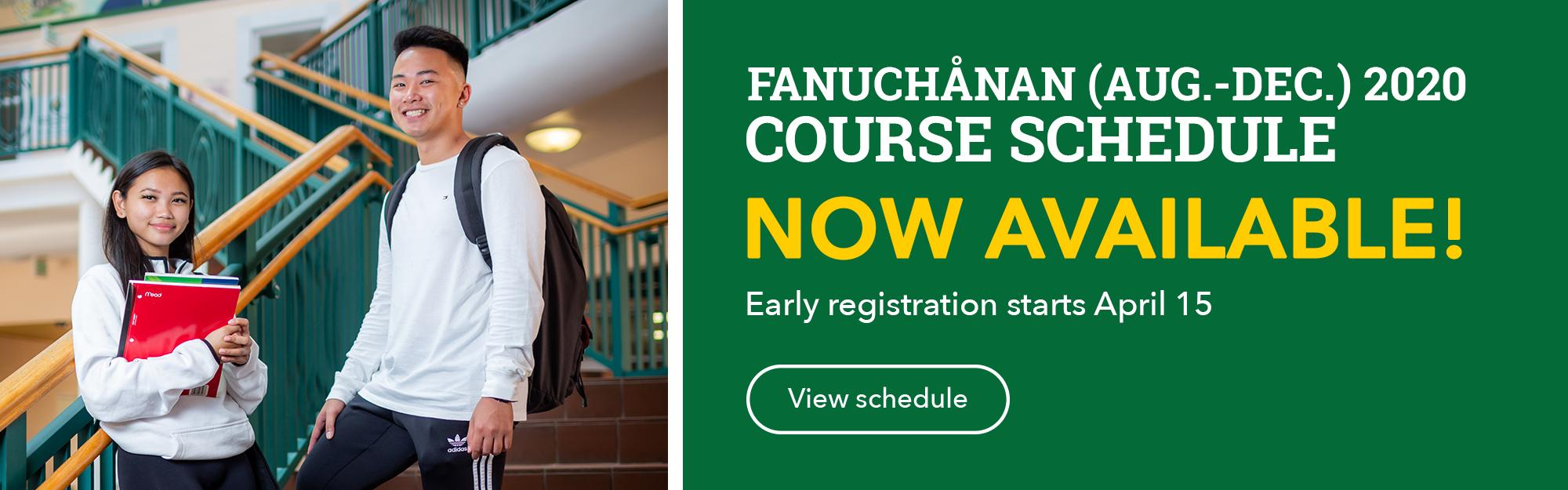 Click to view the Course Schedule