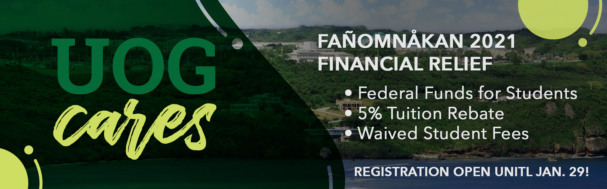 Click to view details of available financial relief for Fañomnåkan 2021