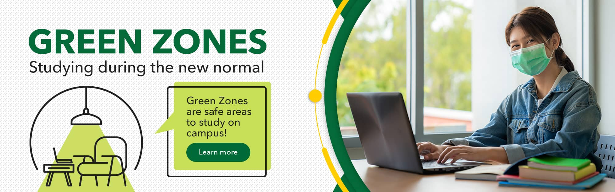 Green Zones: Safe areas on campus to study
