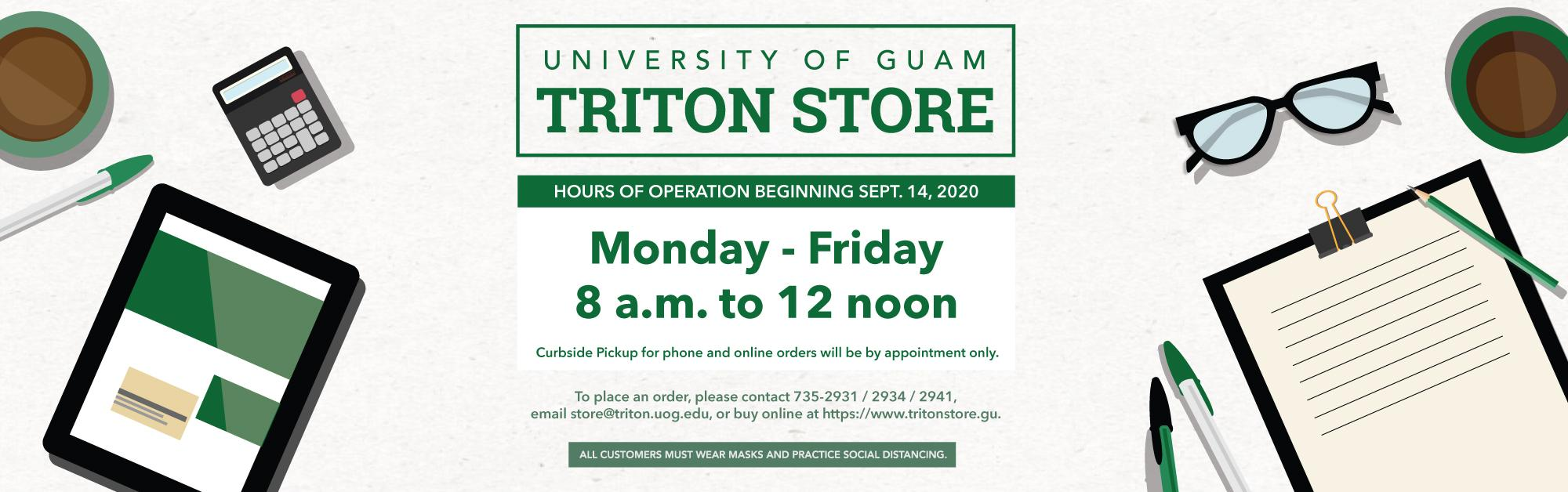 UOG Triton Store | Curbside pick-up available