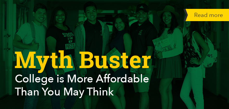Myth Buster: College is more affordable than you may think