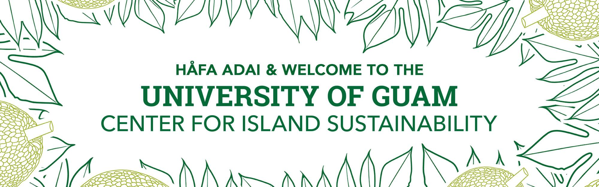Center for Island Sustainability Banner Iamge
