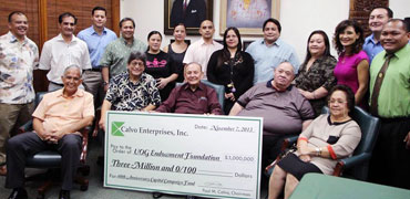 Calvo's Donates $3M to UOG Endowment