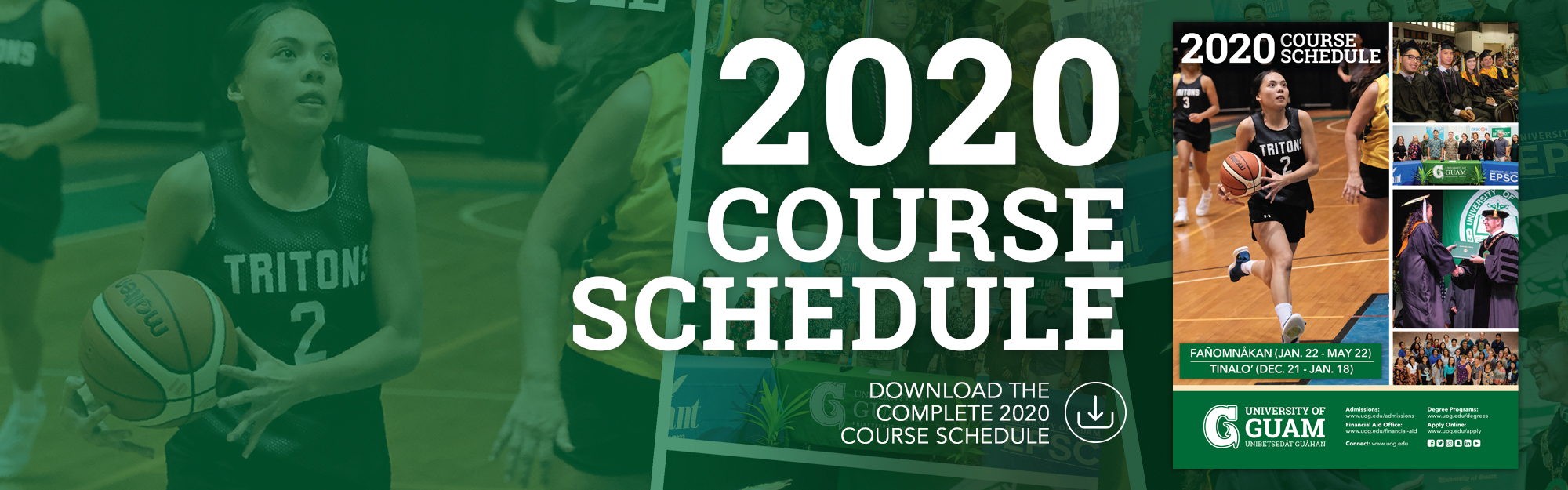 The Complete 2020 Course Schedule available for download. Click Here!