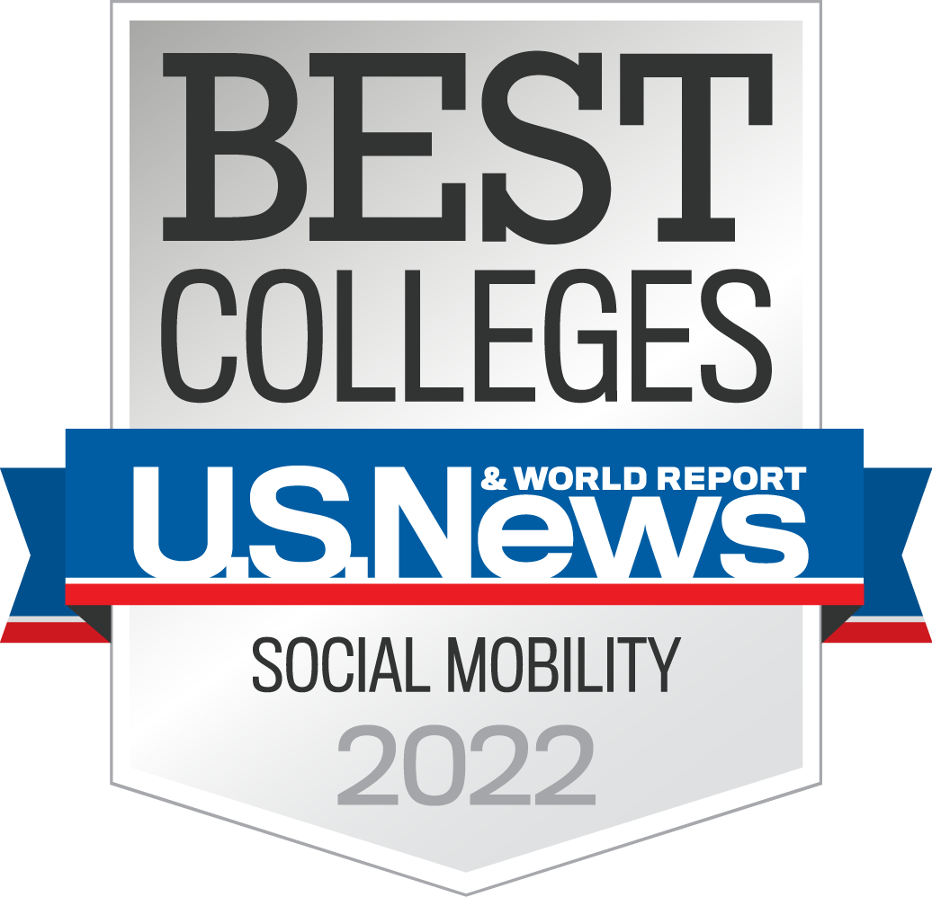 US News and World Report Best Colleges badge for Social Mobility 2021
