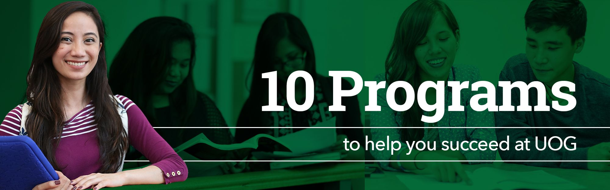 10 Programs to help you succeed at UOG