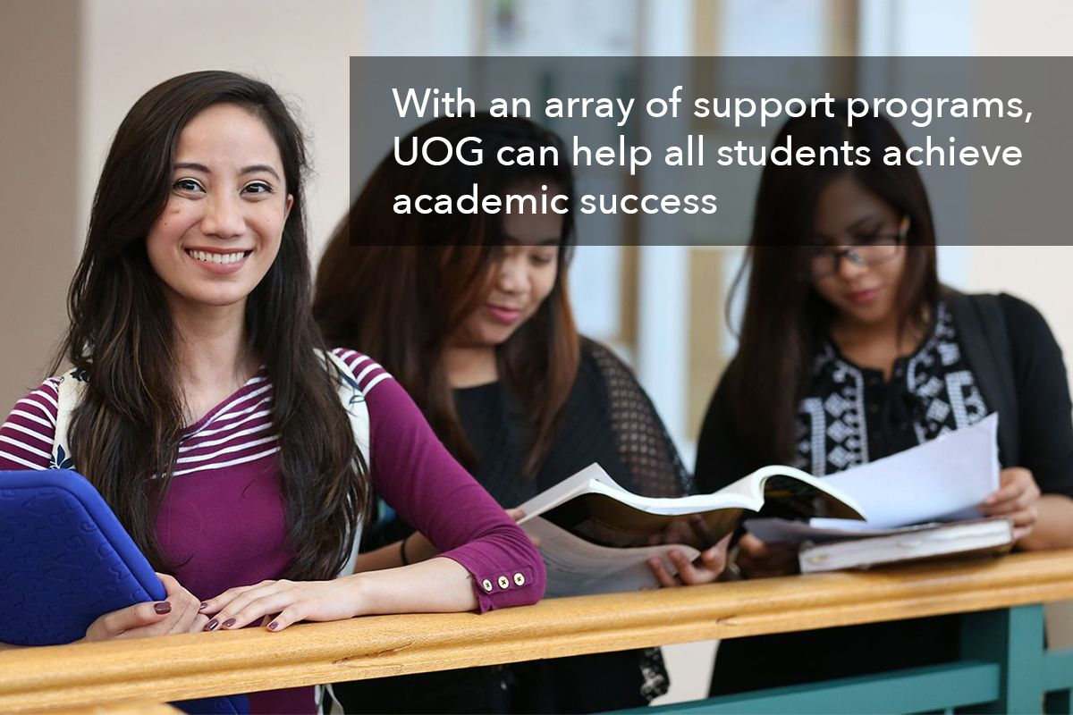 With an array of support programs, UOG can help all students achieve academic success