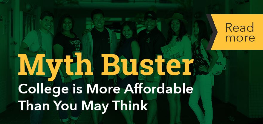 Article: Myth buster college is more affordable than you think