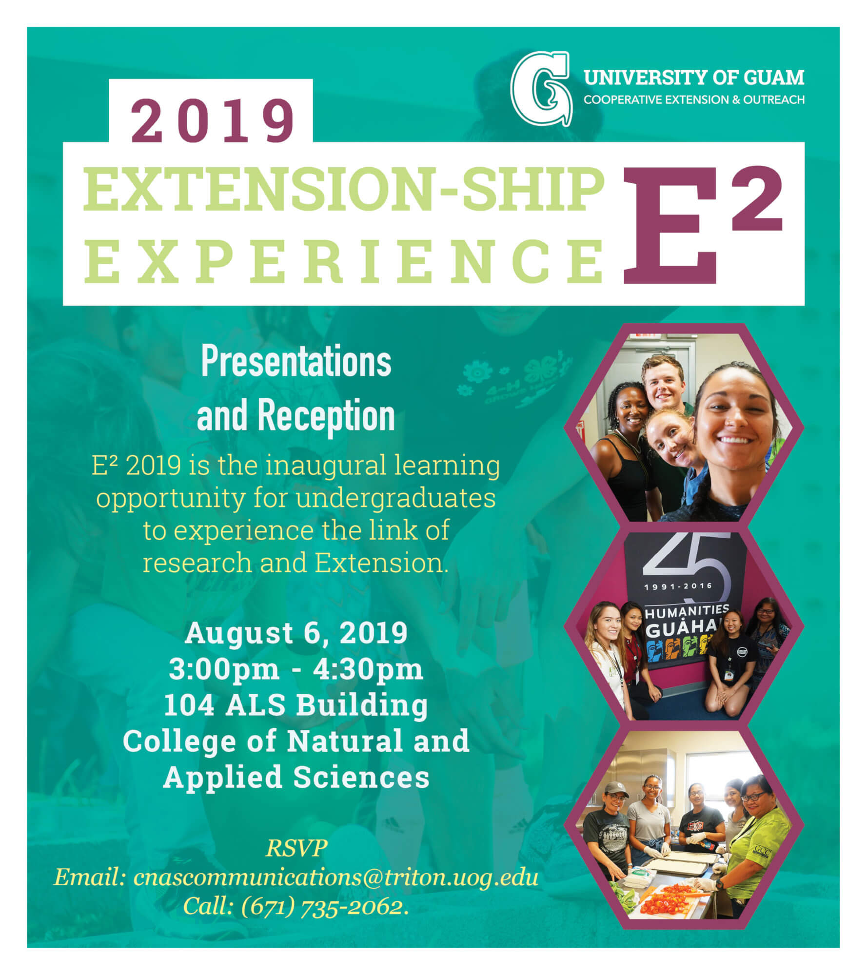 Save the Date: Extension-ship Experience Aug 6