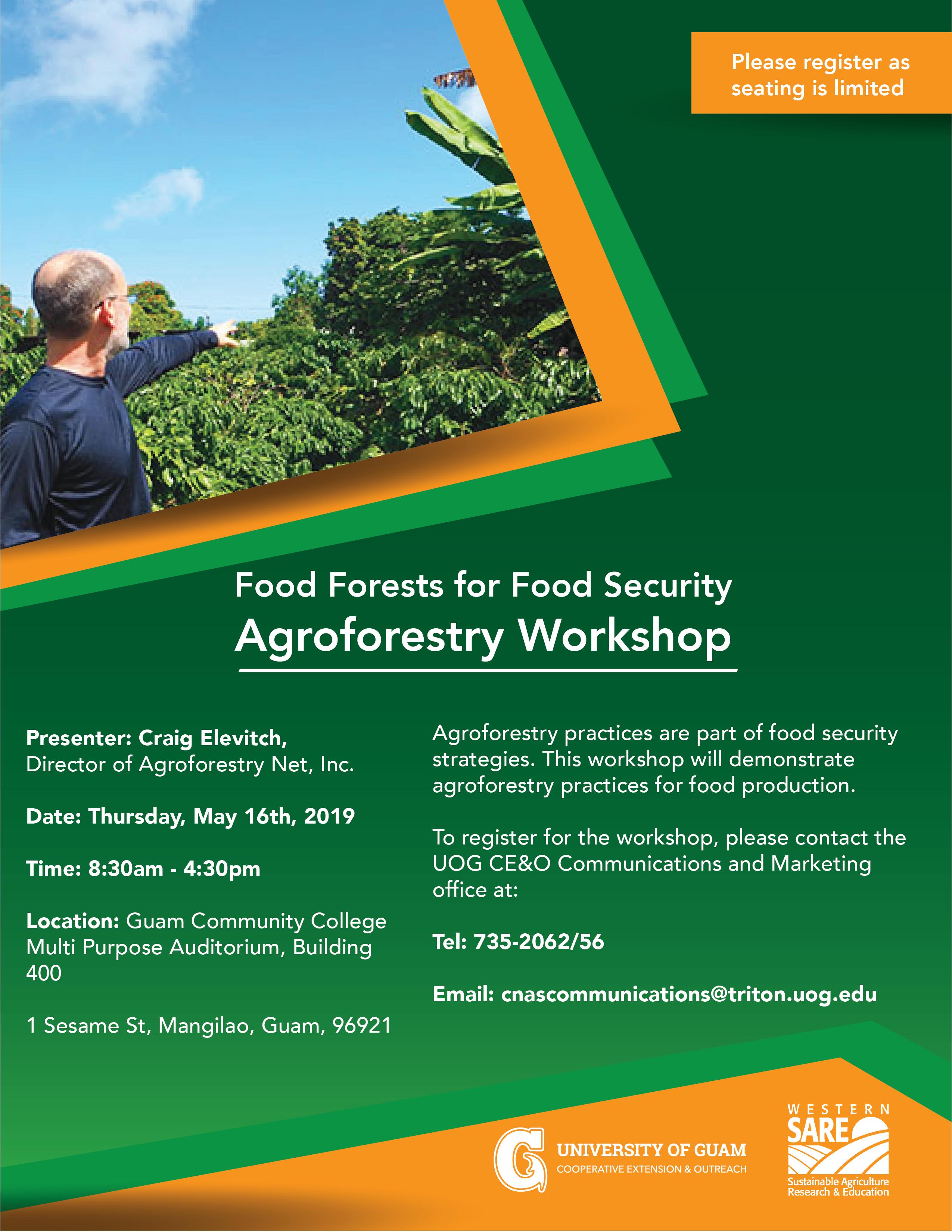 Food Forests for Food Security: Agroforestry Workshop