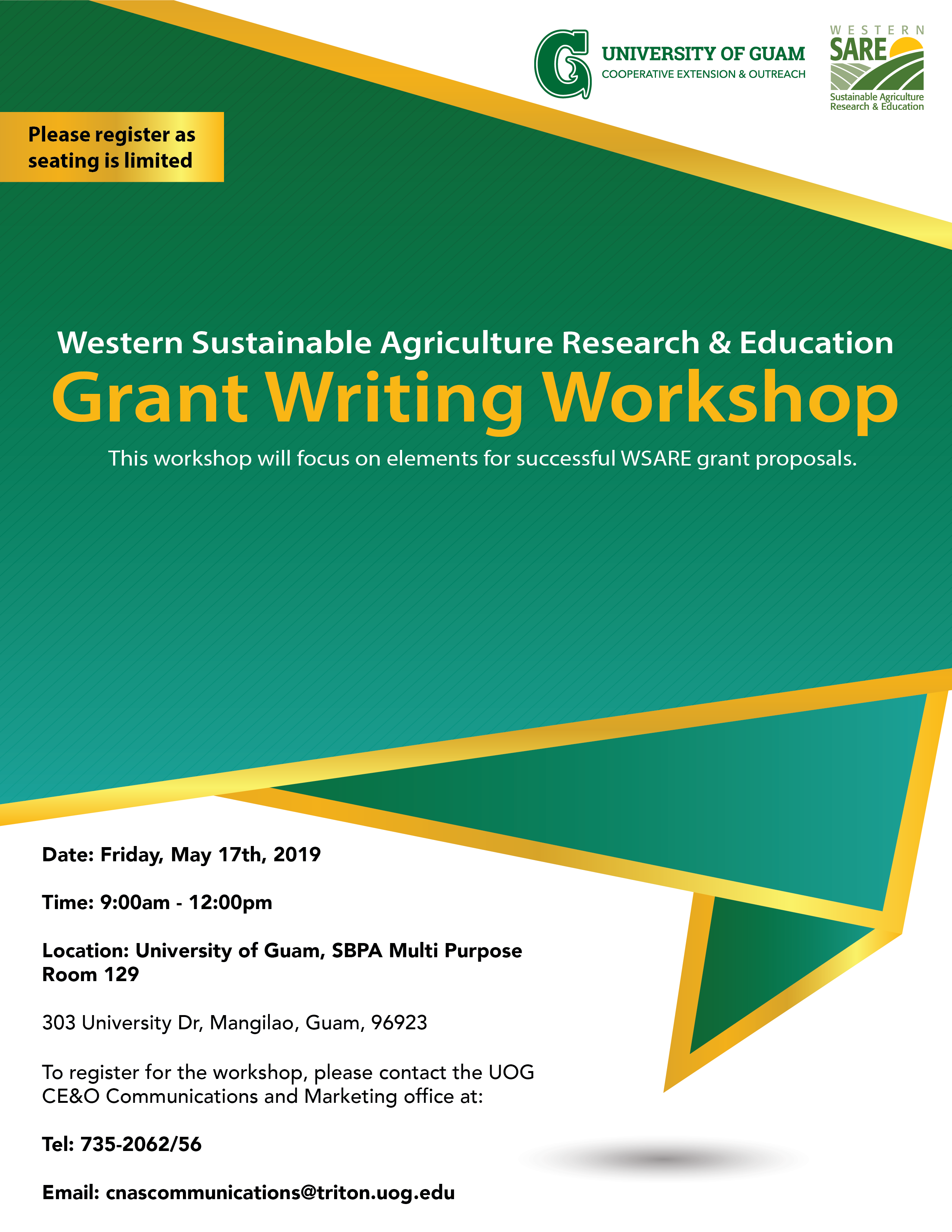 Western Sustainable Agriculture Research & Education: Grant Writing Workshop
