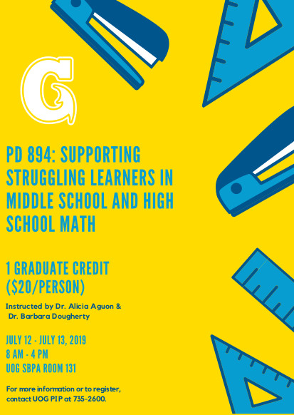 Professional Development Course: Supporting Struggling Learners in Middle and High School Math