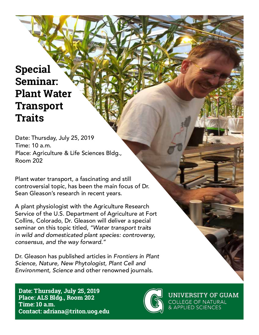 Seminar: Water Transport Traits in Plants