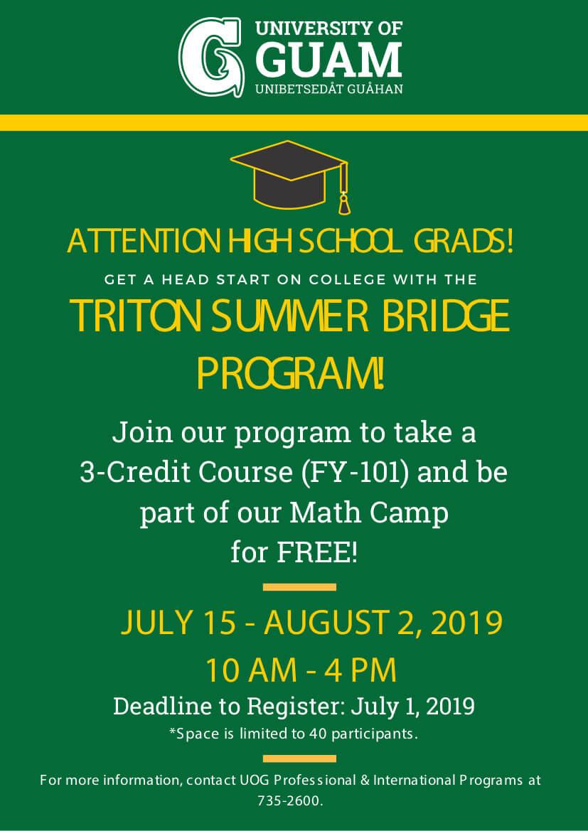 Triton Summer Bridge Program for high school graduates
