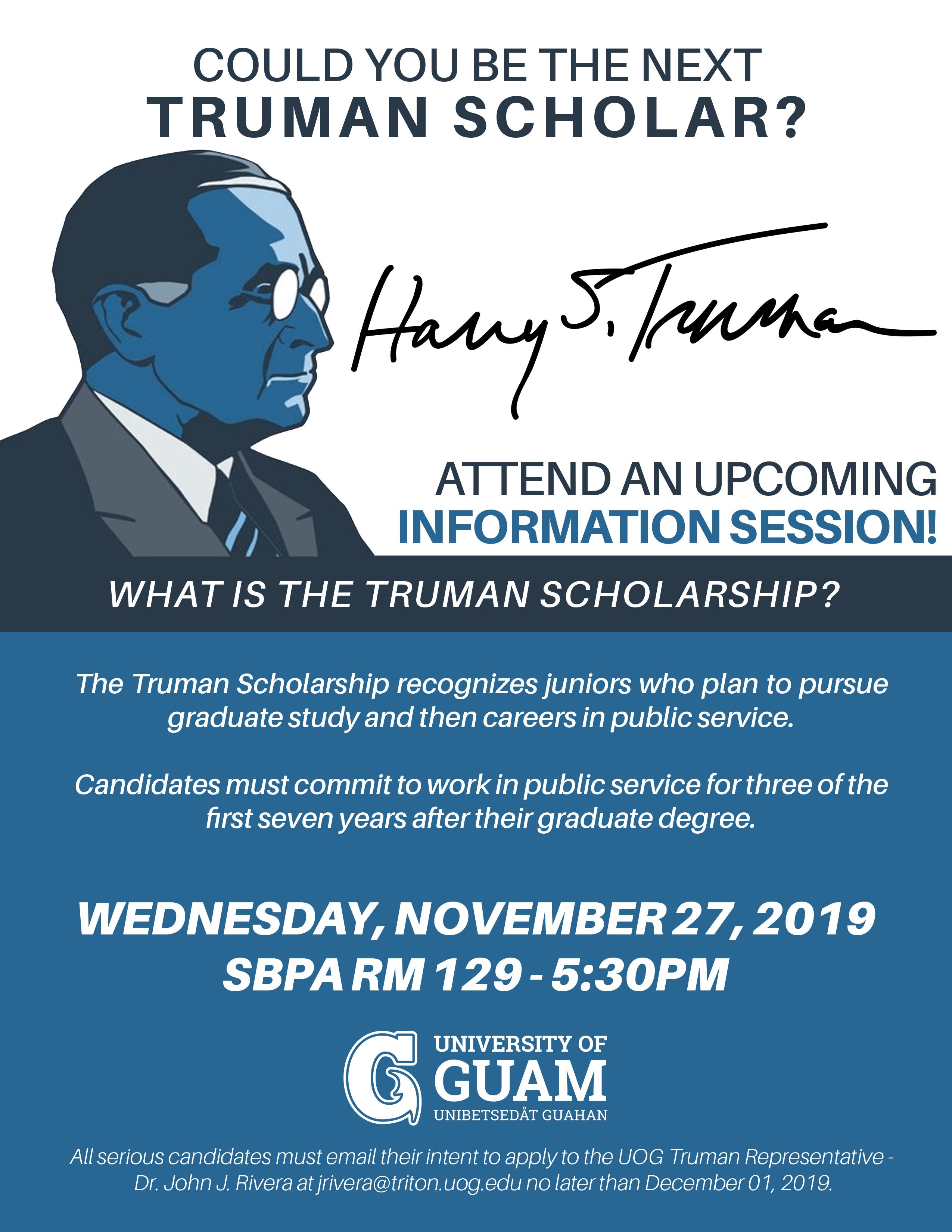 Info Session on Truman Scholarship