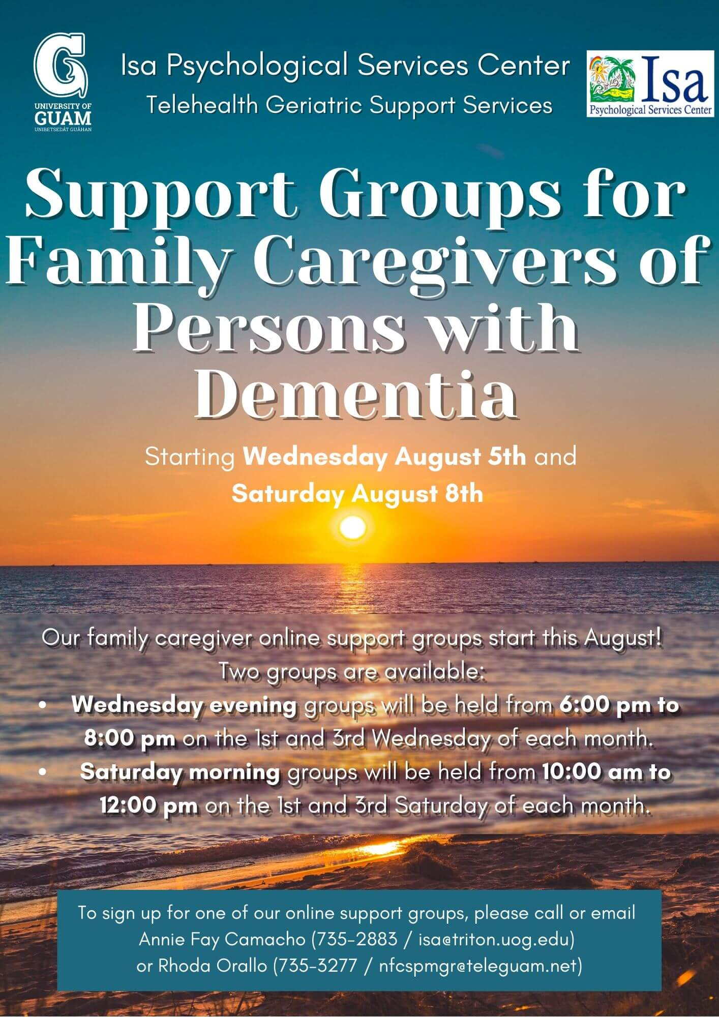 Support group for caregivers of persons with dementia