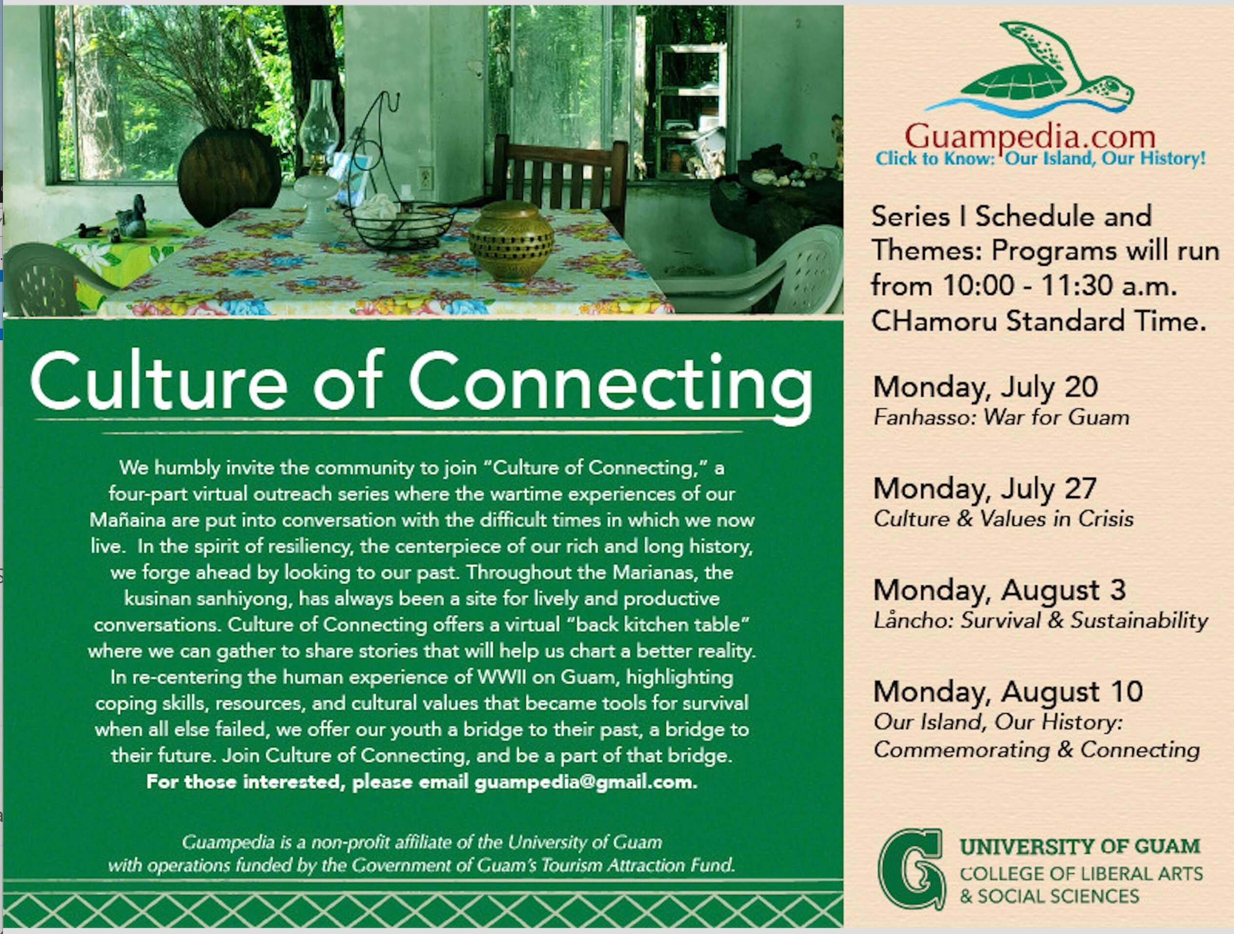 Guampedia/CLASS Liberation Day Series: Our Island, Our History: Commemorating & Connecting