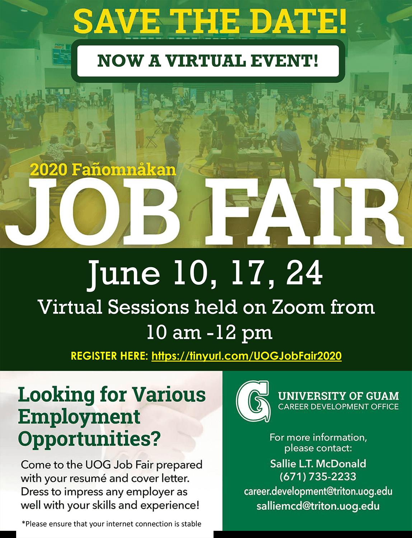 2020 Fañomnåkan Virtual Job Fair