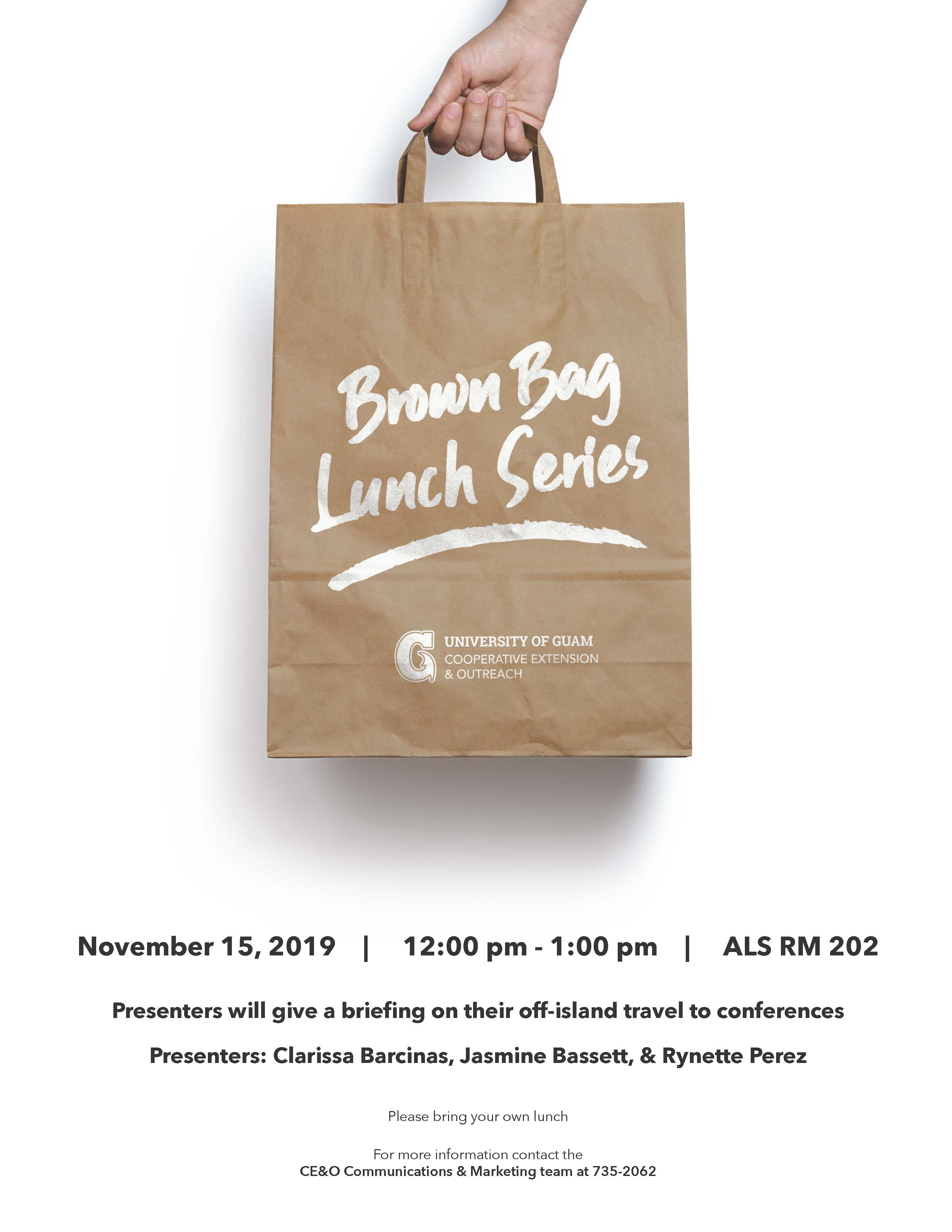 Cooperative Extension's Brown Bag Lunch Series