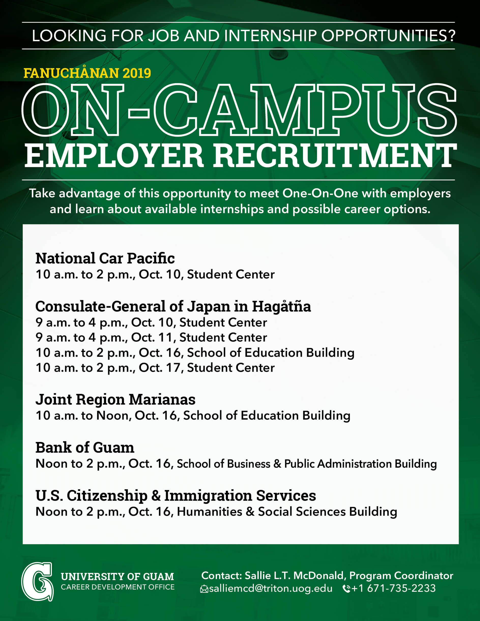 On-Campus Employee Recruitment: Bank of Guam