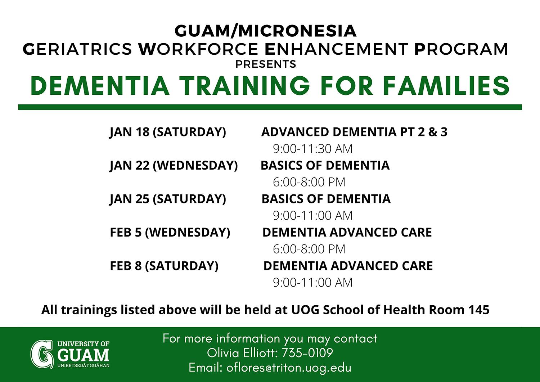 Dementia Training for Families
