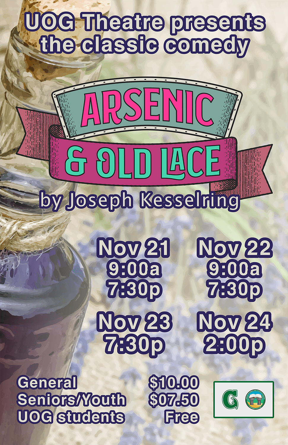 Laugh out loud at UOG Theatre's stage production of 'Arsenic and Old Lace'