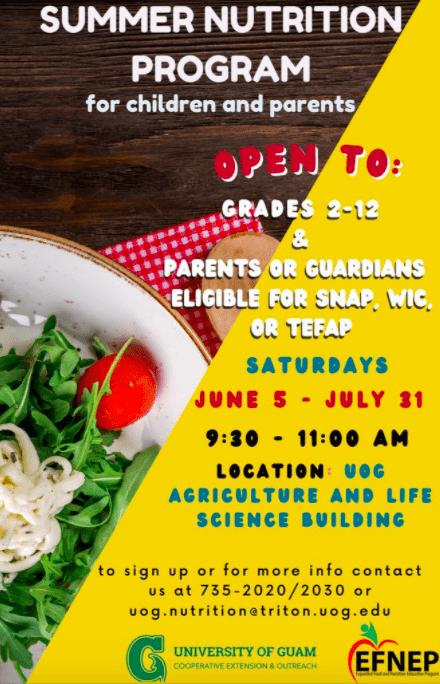 CNEP Summer Nutrition Program for children and parents