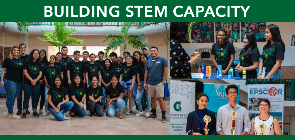 Photos of CIS building STEM Capacity with students