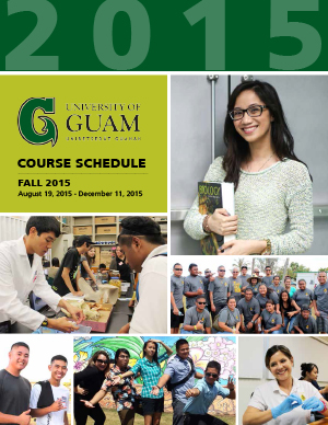 Fall 2015 Course Schedule