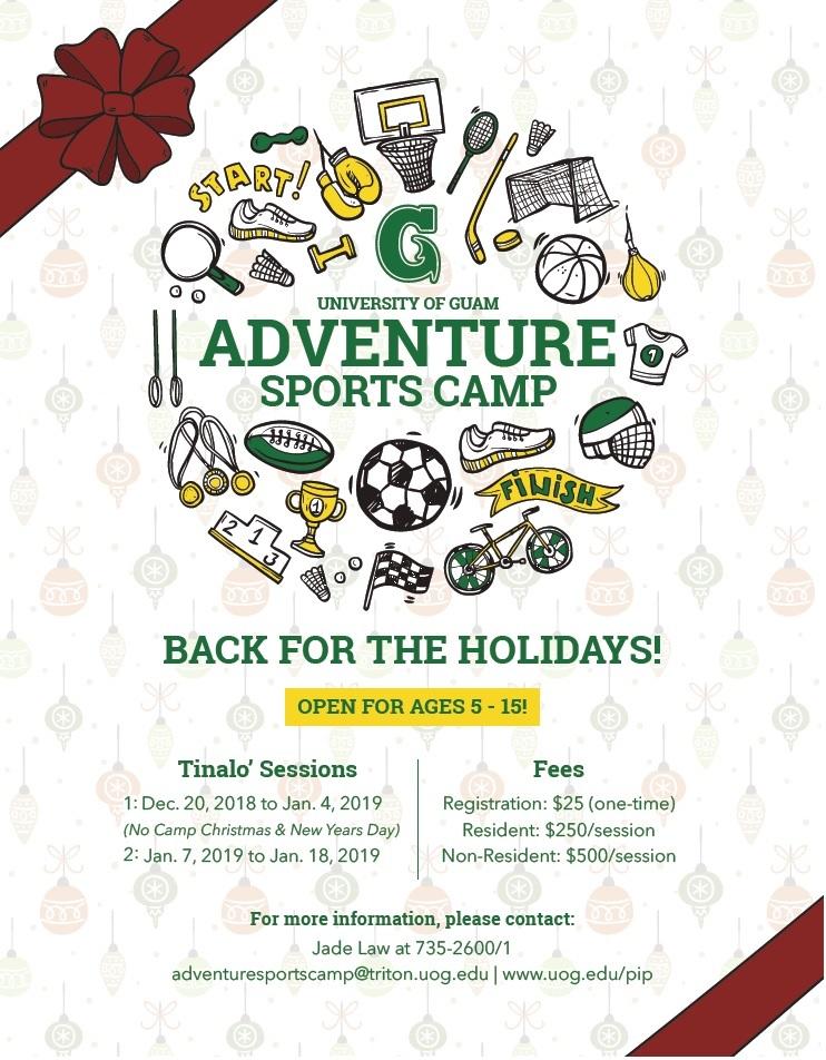 Tinalo 2018 Adventure Sports Camp