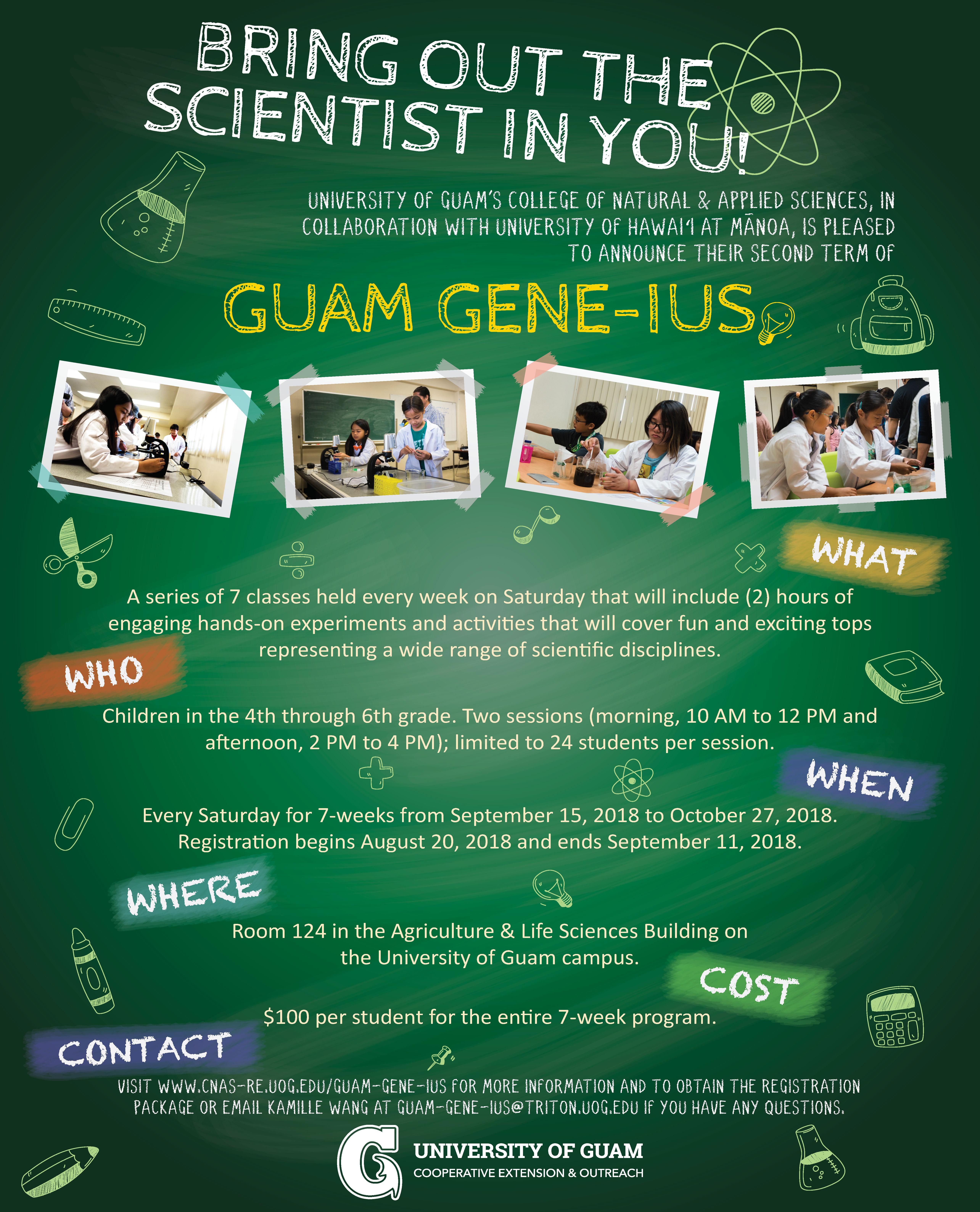 Guam Gene Ius 7 Week Day Program Guam Calendar