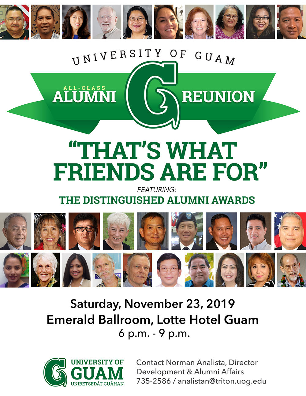 All-Class Alumni Reunion and Distinguished Alumni Awards
