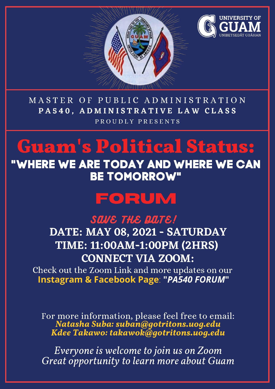 PA-540 Presents: Guam's Political Status Forum