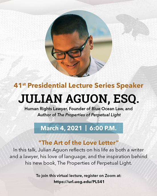 41st Presidential Lecture Series feat. Julian Aguon