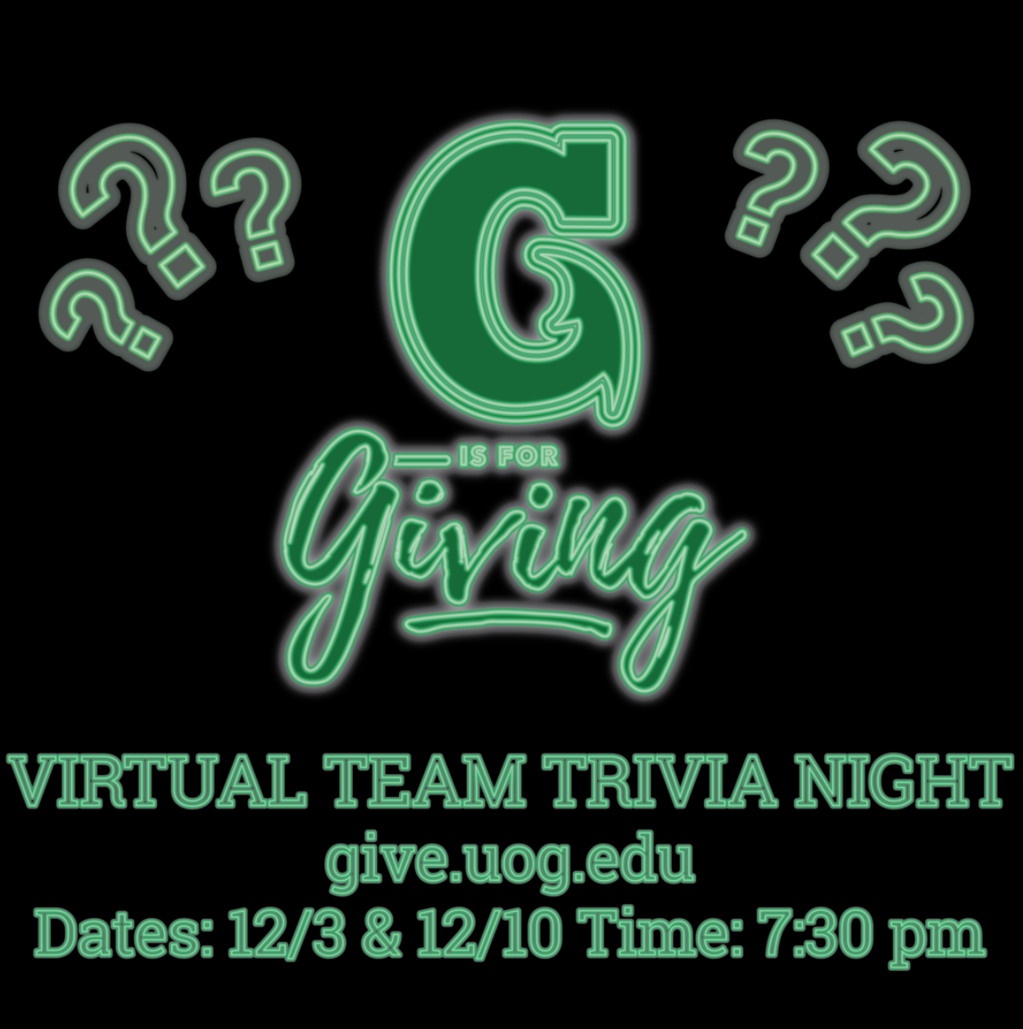 G is for Giving Trivia Night!
