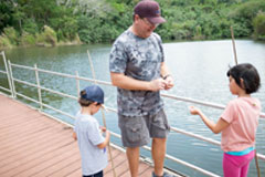 This is the sixth Kids' Freshwater Fishing Derby, which encourages youth outdoors recreation