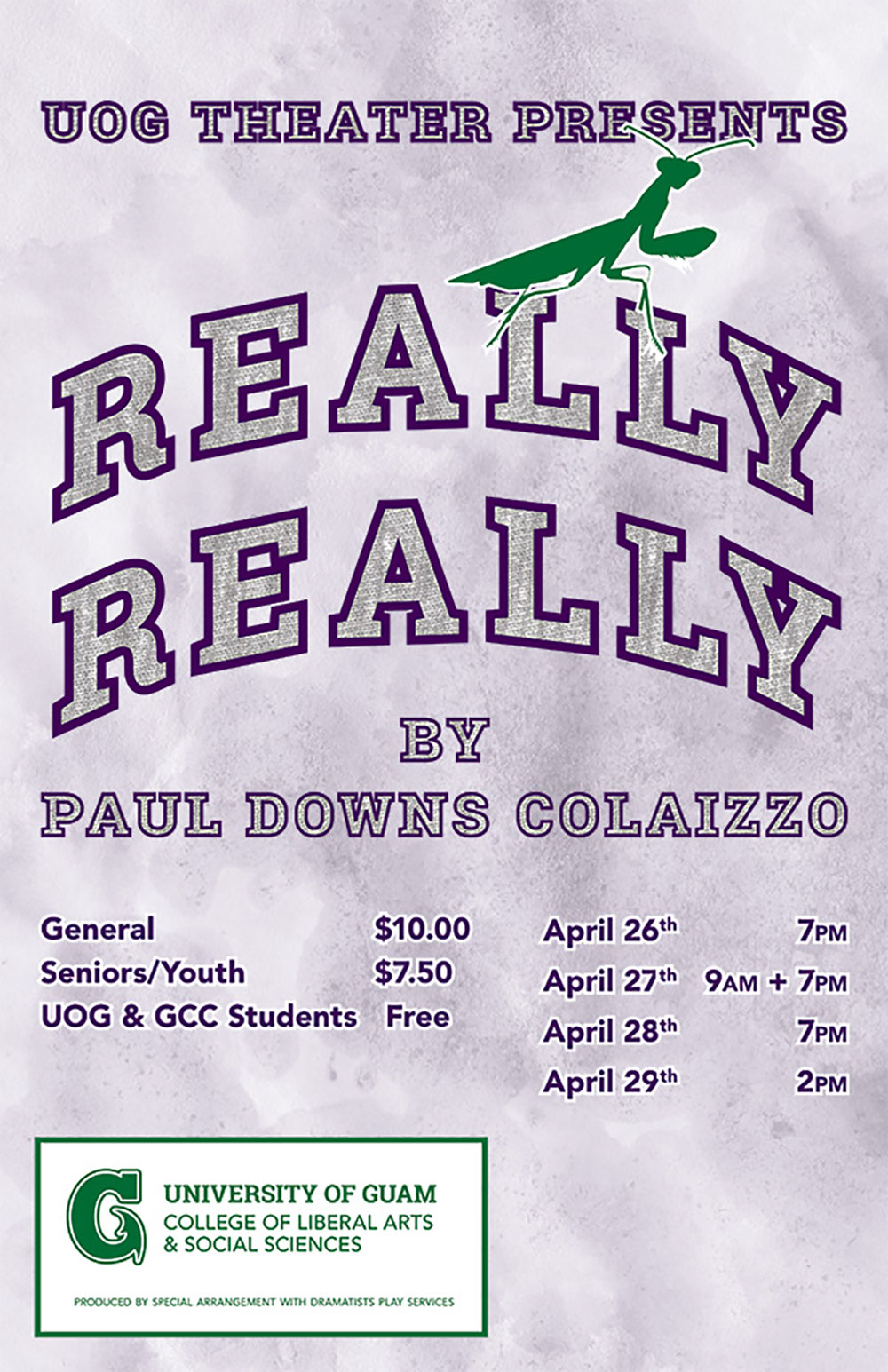 UOG Theatre Presents Colaizzo's Really Really