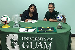 Guerrero was an honor student at Okkodo and played goalkeeper/defender for the girls' soccer team.