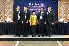 The international exchange built upon the strong ties between the University of Guam and Jeju National University.