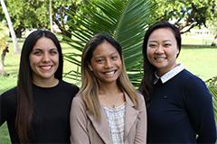 Danielle Concepcion, Monique Nakamura, and Brooke Pangelinan have been accepted into prestigious doctoral programs in the U.S. mainland.