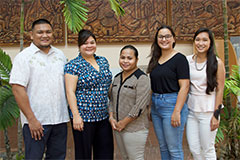 Seven University of Guam students received Research Corporation of the University of Guam (RCUOG) travel awards for education-related travel occurring through Dec. 31, 2018.