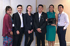 A team from the University of Guam School of Business & Public Administration took second place in an international case-study competition on business held April 17 to 20 in New Orleans.