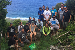 The intensive course took students on a comparative journey through the forests of Saipan and Guam.