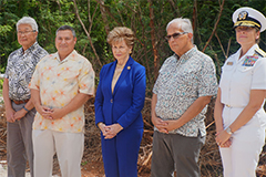 The University of Guam, government and military officials, and community stakeholders gathered for a site dedication for the proposed Guam Cultural Repository