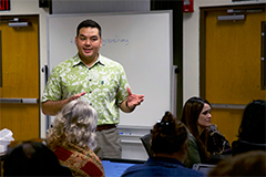 Austin Shelton, executive director for UOG's Center for Island Sustainability, serves as UOG's representative in the GCSO network.