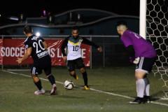 Hezekiah Cruz attempts to score